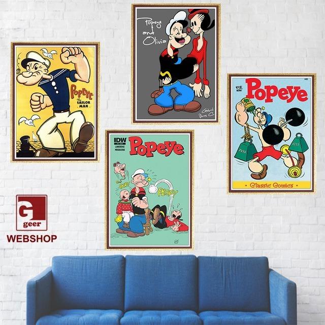 4 Cuadros Decorativos Mdf - Vintage Retro Popeye - $ 80.000 en ...