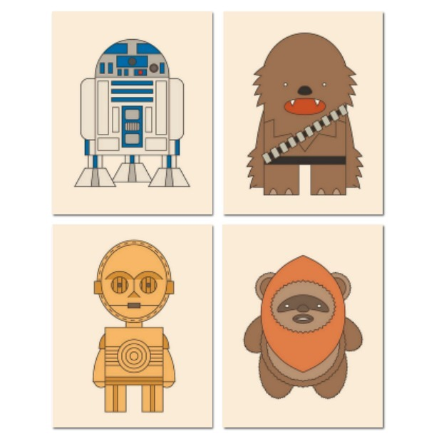 4 Cuadros Star Wars Para Niños En Lienzo Canvas Envio Gratis ...