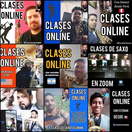 4 (cuatro) clases online de saxofon