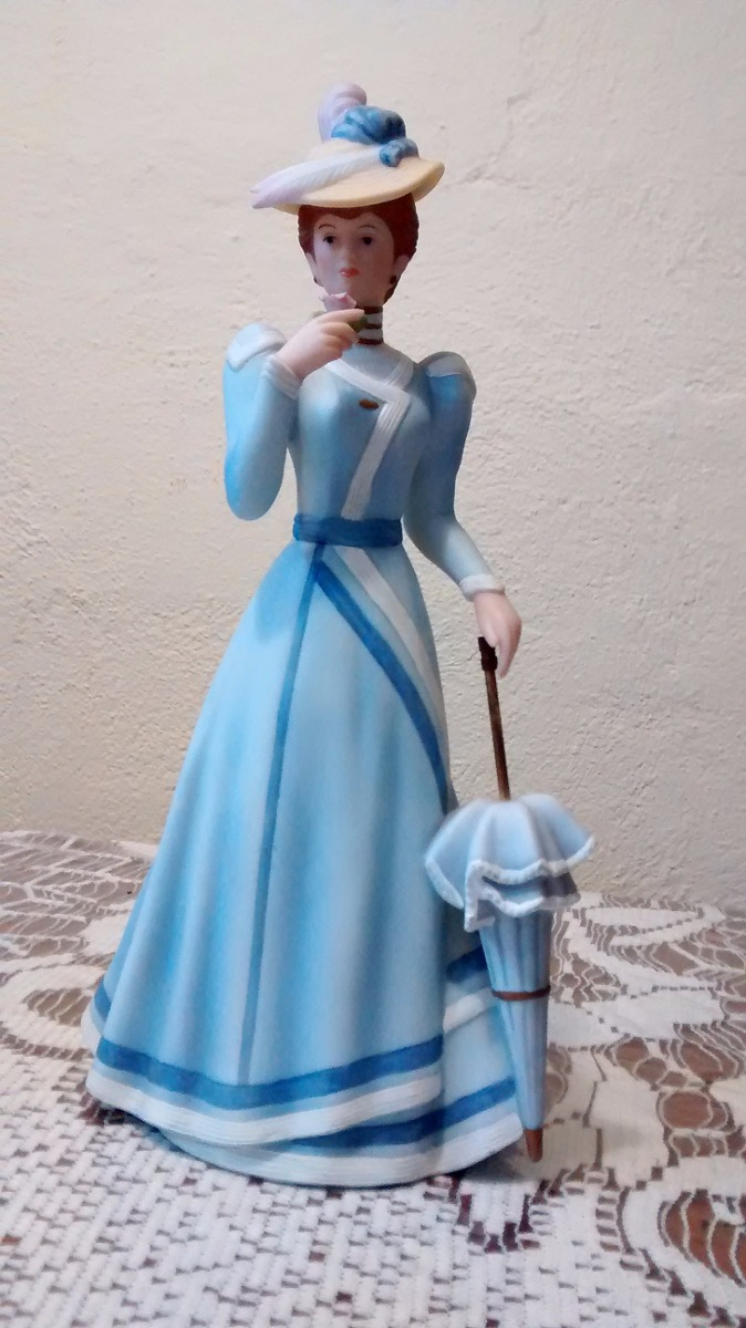 4 damas elegantes figuras de porcelana antigua 5 500 for Home interiors gifts inc company information