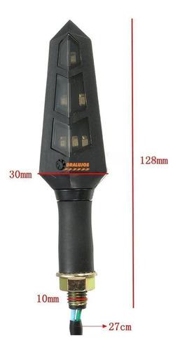 4 direccionales led para moto alta potencia universal