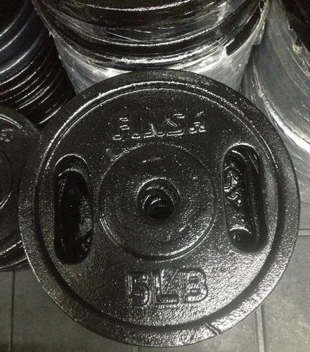 4 disco finsa de 5 libras con agarre para pesas o barras