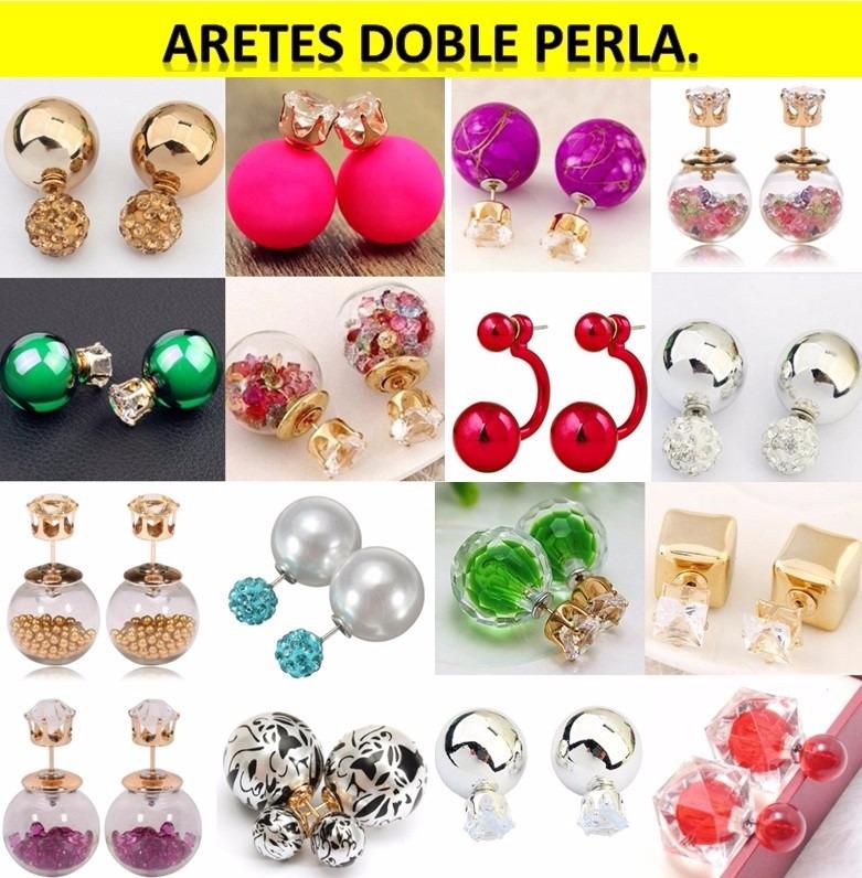 515d4216343e 4 Docenas Aretes Doble Perla Diseños Novedosos De Moda -   396.00 en ...