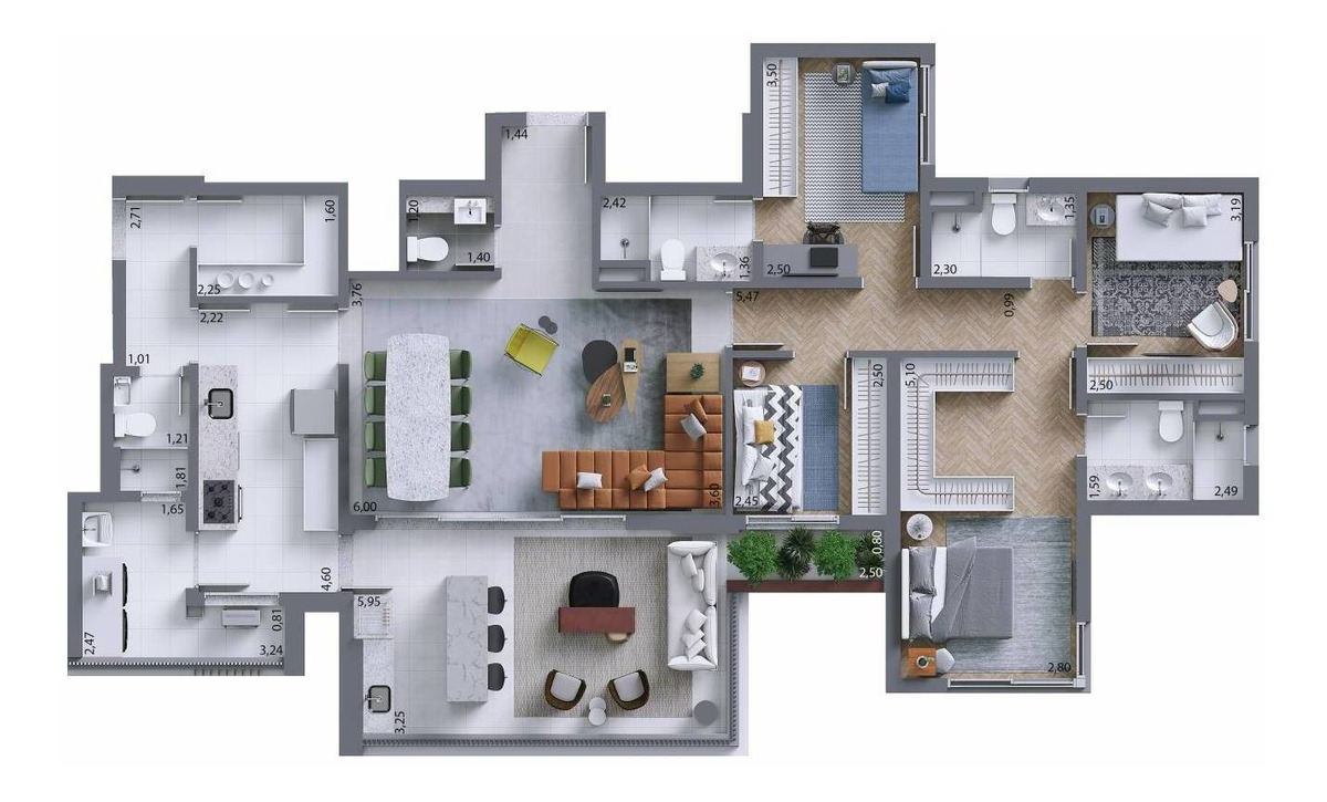 4 dormitórios, 2 suítes, 2 vagas. perdizes. s|p|