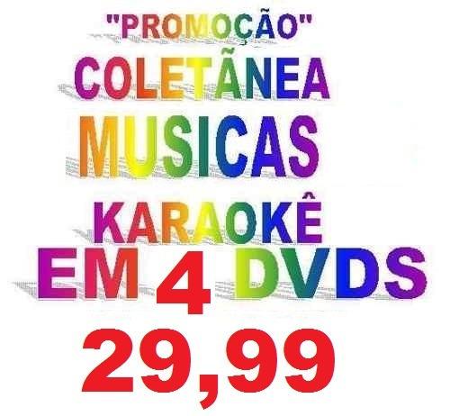 4 dvd musicas karaokê mpb forró sert univ 2012 amado batista