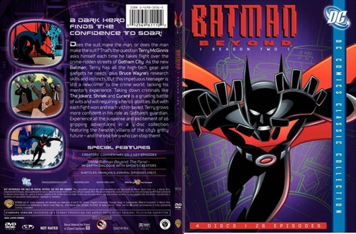 4 dvds anime batman beyond del futuro temporada 2 tampico