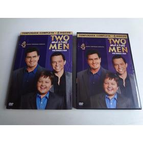 4 Dvd's Two And A Half Men Dois Homens E Meio 4° Temporada