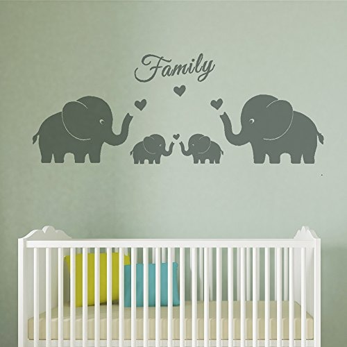 4 Elefantes Lindos Familia Tatuajes De Pared Padres Y Gemelo