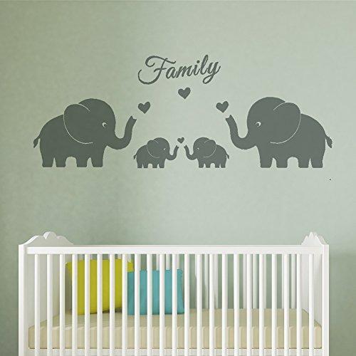 4 Elefantes Lindos Familia Tatuajes Pared Padres Y Gemelos E
