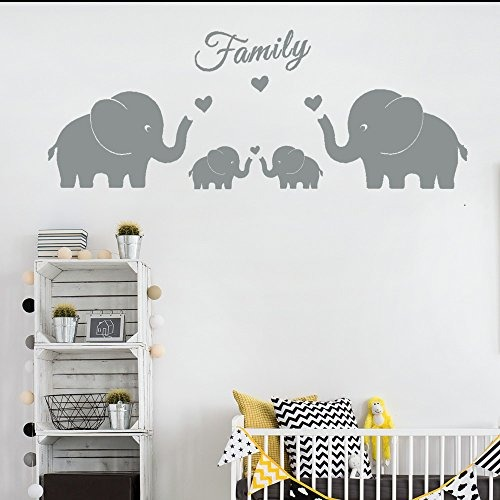 4 Elefantes Lindos Tatuajes Pared La Familia Padres Y Gemelo