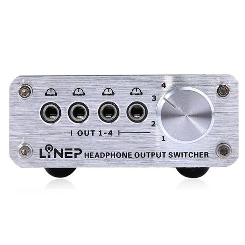 4 em 4 fora do headphone 3.5mm mp3 auditivo sinal switcher d