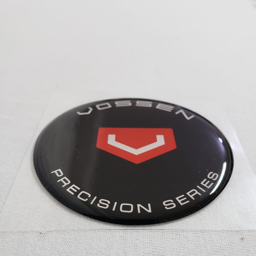 4 emblema roda vossen resinado poliéster 45mm etiqueta