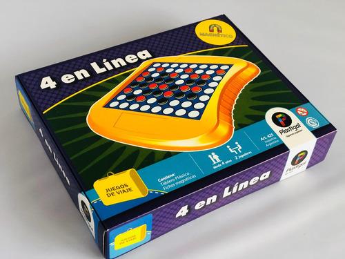 4 en linea magnetico - juegos de viaje - juego de mesa