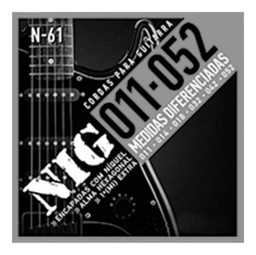 4 encordoamentos para guitarra eletrica nig 011/052 n61