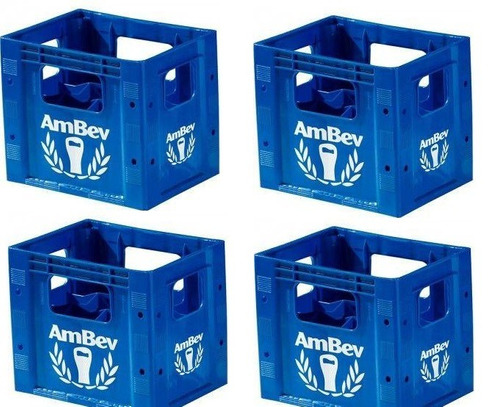 4 engradado caixa grade para 12 cerveja litro litrão ambev