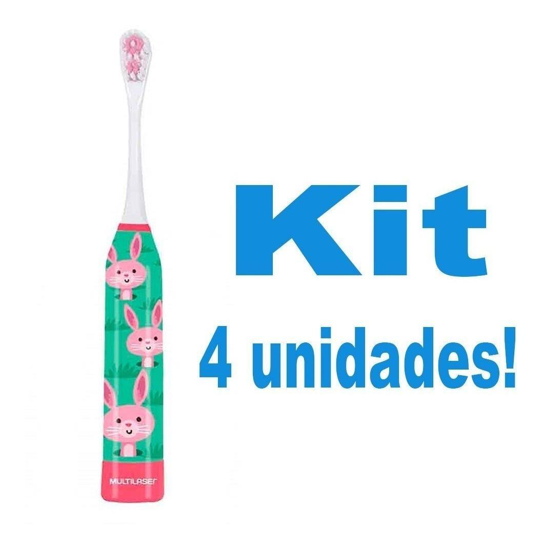4 Escovas Dentes Eletricas Pra Crianca Com Desenho Coelho R 146