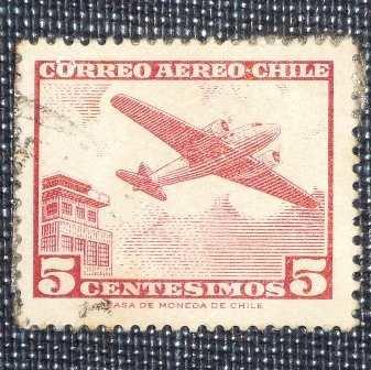 4 estampillas chile antiguas boy scouts avión isabel ii