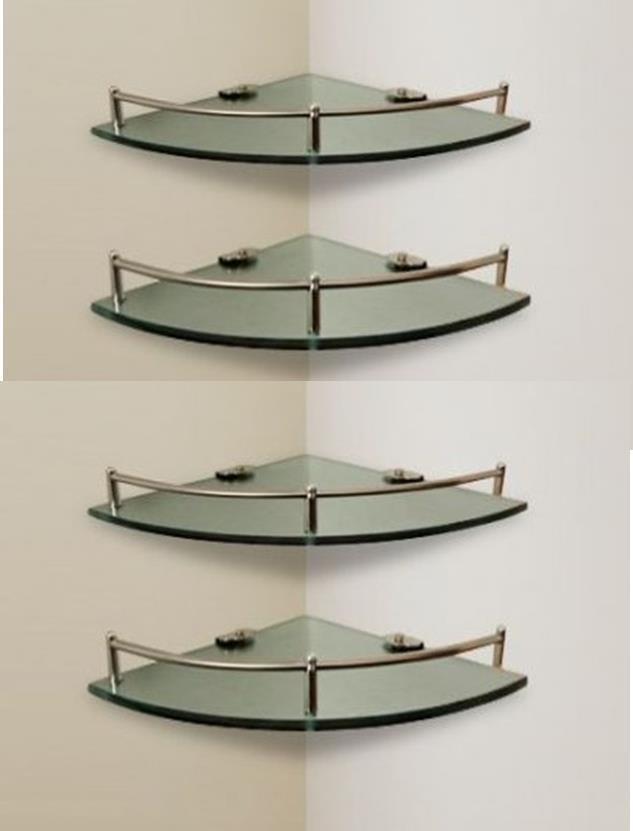 4 estantes esquineros baño ducha de vidrio con baranda acero. Cargando zoom. c512aac35e6d