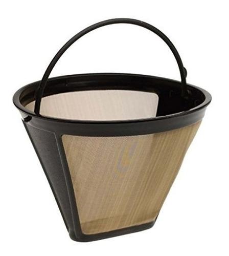 4 filtro permanente de cafe con forma de cono