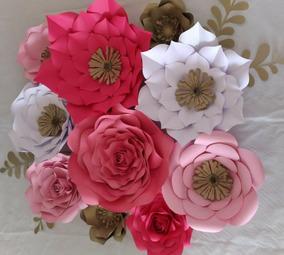 Como Fazer Flores Grande De Papel Cartolina Flores De Papel