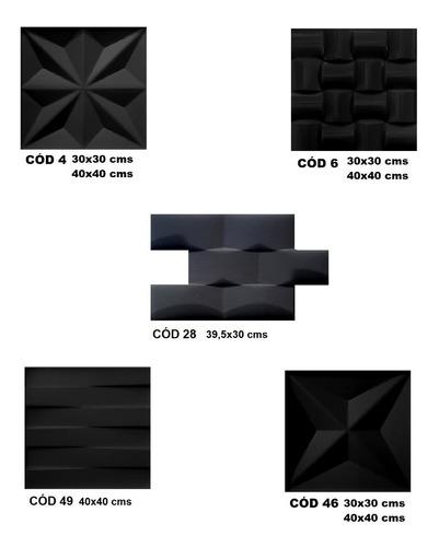 4 formas de abs 2 mm p/ cimentício e gesso 3d; 40x40 cms; fl