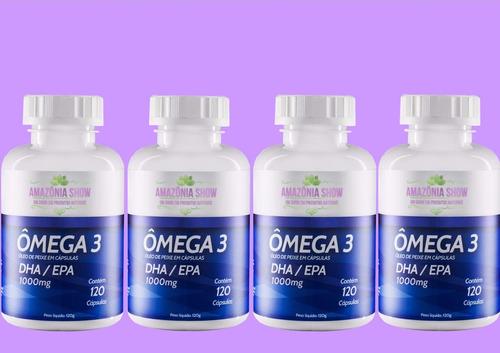4 frascos de omega 3 120 capsulas de 1000mg