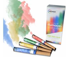 2 Fumaças Coloridas Bastão Grande 37mm Chá Revelação - Fotos