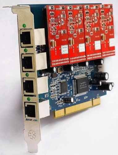 4 fxo y 4 fxs asterisk voip card tdm400p compatible ip pbx