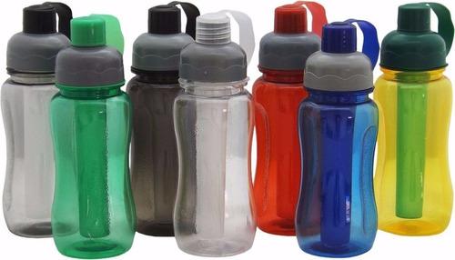 4 garrafa squeeze  tampa higiênica porta gelo 600 ml