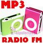Mp3 Con Radio Fm Shufle Micro Sd Hasta 8gb Audifonos Clip