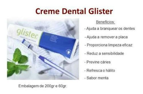 4 glister creme dental da amway de 200g