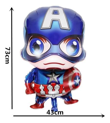 4 globos avengers hulk spiderman capitan america y iron man