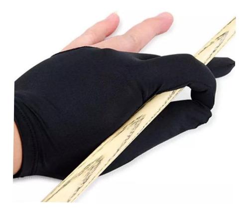4 guantes de billar de color negro