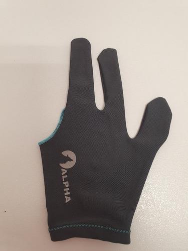 4 guantes de billar varios colores