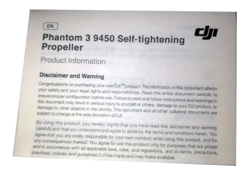 4 helices dji 9450 original phantom 3  envio gratis 2 días