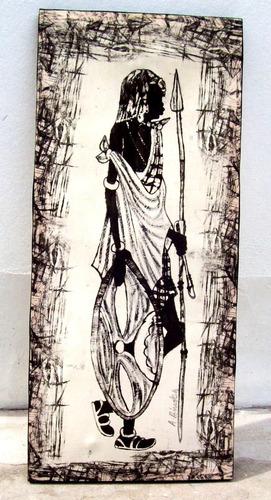4 hermosos cuadro mujeres africanas  tela firmados -la plata