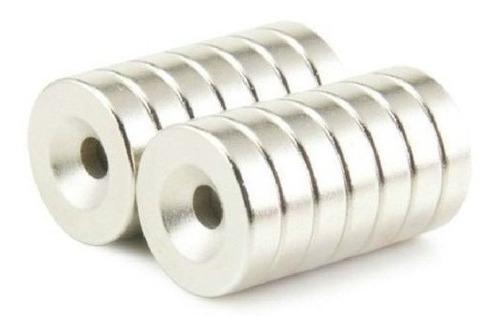 4 imanes neodimio 12mm x 3mm int. 4mm ring anillo dona xto
