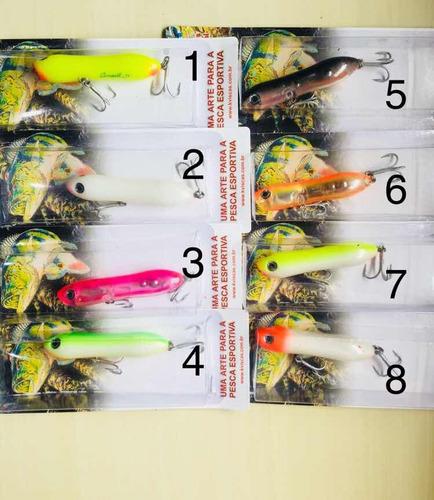 4 iscas artificiais pesca kv small jr. 8 cores disponíveis