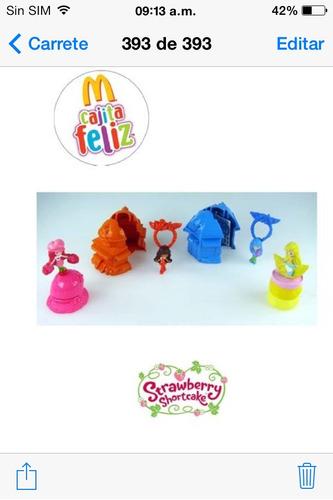 4 juguetes.  strawberry  shortcake mac donalds no disney