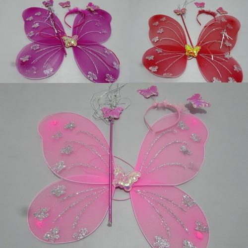 4 kit asa de borboleta (asinha varinha etiara)r$11,25 cada