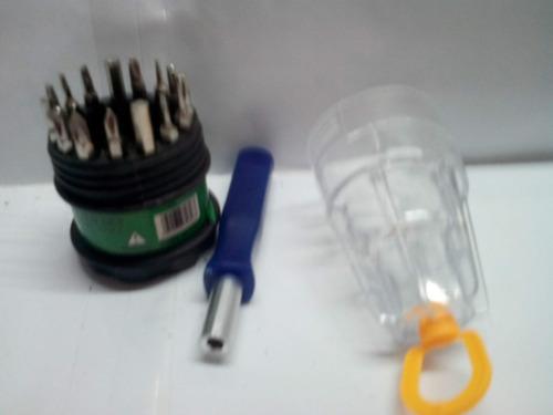 4 kit set juego destornilladores celular 16 piezas 1 reloj