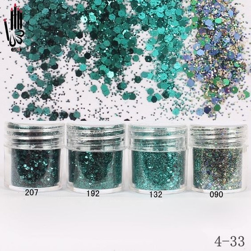 4 lantejoulas glitter  para decoração de unhas - nail art