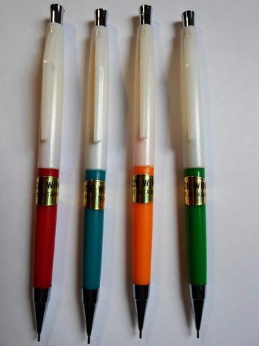 4 lapices mecánicos portaminas 0.5mm plasticos importados