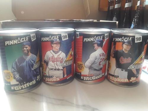 4 latas coleccionables beisbol pinnacle 1998