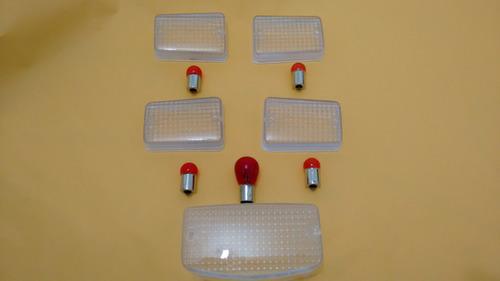 4 lente pisca seta + lanterna + lampadas titan 125 95 a 99