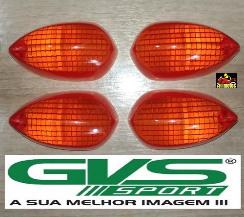 4 lentes pisca seta laranja pra moto factor 125 factor 150