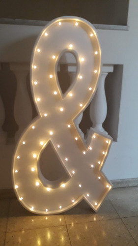 4 letras 1 metros c/luces led polyfan luminosos belgrano