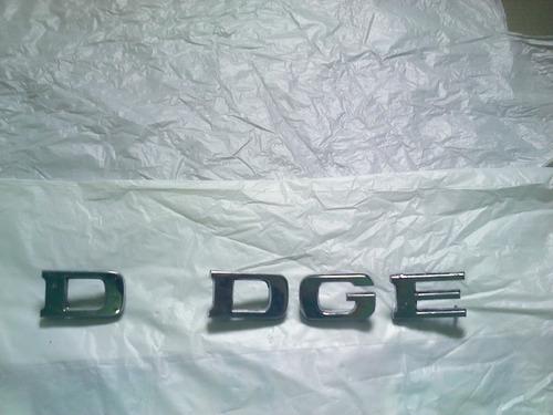 4 letras dodge emblema grande falta o - d100 dart original