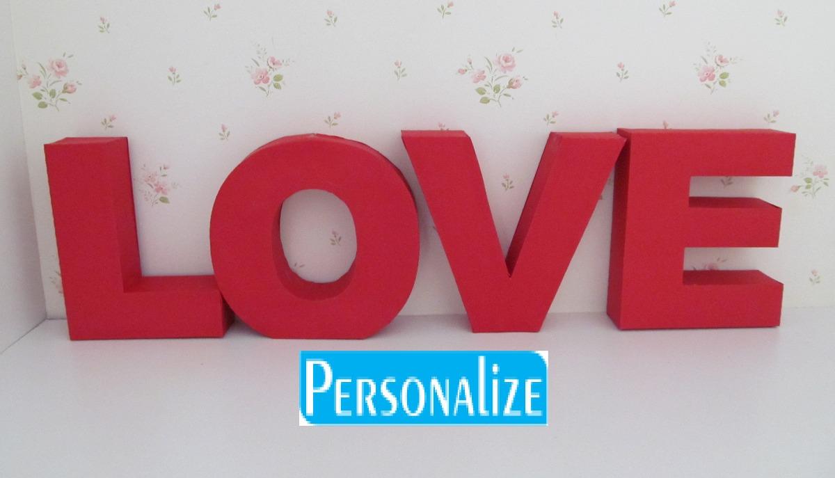 Artesanato Significado ~ 4 Letras Love 3d Em Papel Decoraç u00e3o Casamento Personalize R$ 39,99 em Mercado Livre