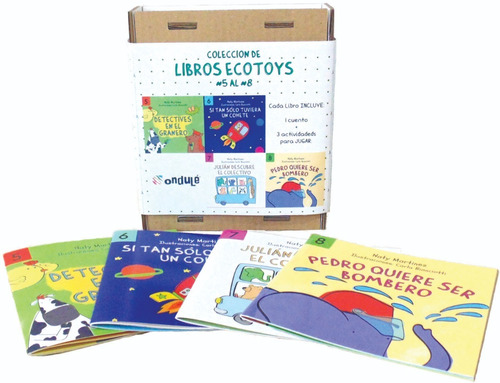 4 libros ecotoys ondulé a elección